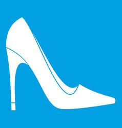 High heel shoe icon white vector