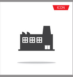 industrial building icon isolated on white vector image