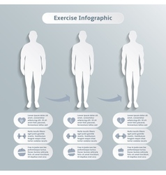 Infographic elements for men fitness vector image