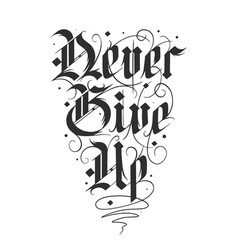 Lettering with quote for poster t-shirt print vector