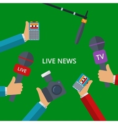 Live news vector