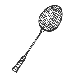 Metal Racket for badminton vector image