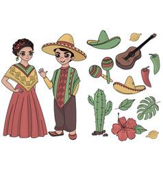 Mexico fairy clip arts color vector