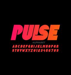 Modern bold style font design vector