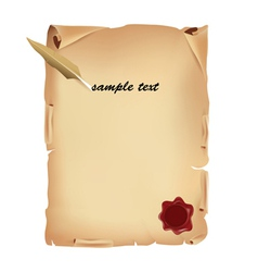 old parchment with wax vector image