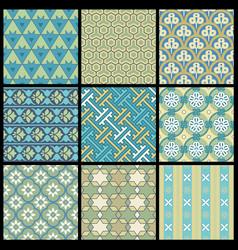 Oriental patterns vector