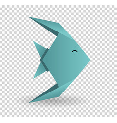 origami paper art icon graphic vector image