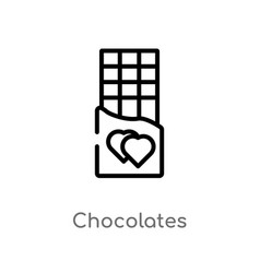 Outline chocolates icon isolated black simple vector