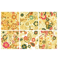 Paisley seamless colorful patterns vector