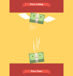 Price ceiling and price floor vector