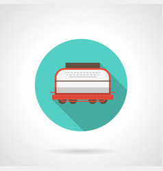 rail car blue round icon vector image