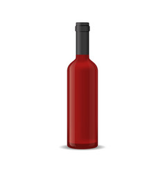 realistic detailed 3d red wine bottle isolated on vector image