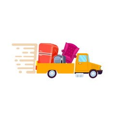 Relocation freight truck icon vector