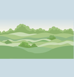 rural landscape background with meadows and vector image