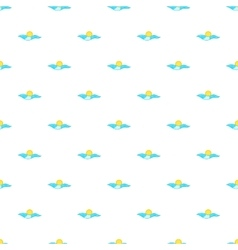 Sea and sun pattern cartoon style vector