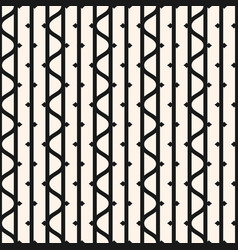 seamless pattern with vertical lines wavy stripes vector image