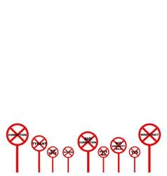 Set of The Forbidden Signs in Democracy Concept vector
