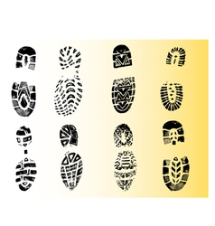 Single black fingerprint - simple monochrome image vector image