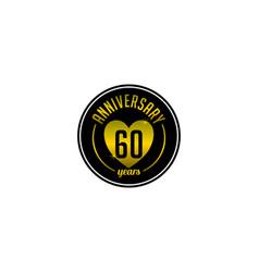 Sixty year anniversary badge vector
