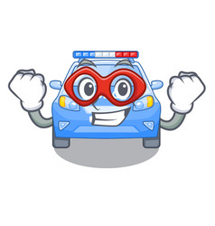 Super hero police car in the shape character vector