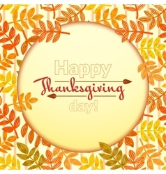 Thanksgiving background vector image