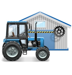 Tractor Repair Concept vector image