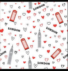 travel seamless pattern london vacation wallpaper vector image