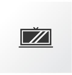 tv icon symbol premium quality isolated vector image