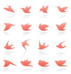 bird logo set vector image vector image