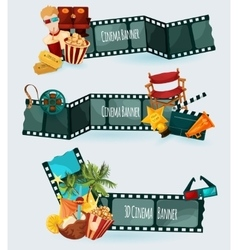 Cinema Banners Set vector image vector image