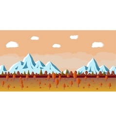 Autumn nature landscape mountains and trees vector image