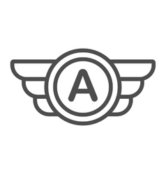 Avia company logo badge or game icon vector image