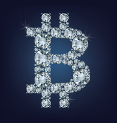 bitcoin made a lot of diamonds cryptocurrency vector image vector image
