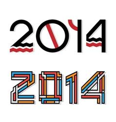 design happy new year 2014 vector image vector image