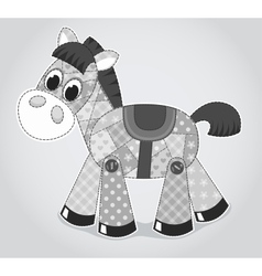 Horse old toy vector image