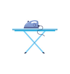 iron electrical object and ironing board vector image