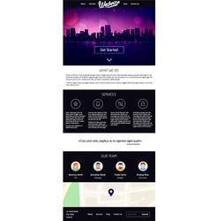 Landing Page Website Design vector image