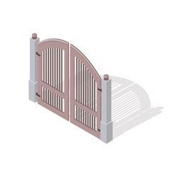 Metal Gate Icon In Isometric Projection vector image vector image