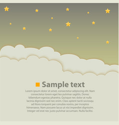 night sky with clouds background vector image vector image