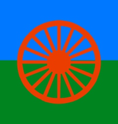 roma people flag vector image