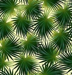 Tropical cabbage palm leaf in a seamless pattern vector image vector image