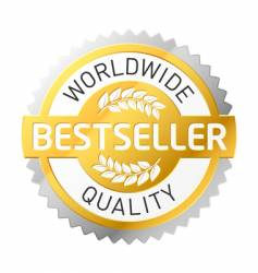 bestseller label vector image vector image