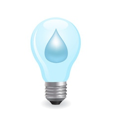 electric light bulb symbolizing energy of water vector image vector image