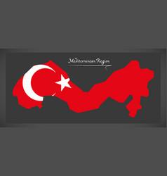 mediterranean region turkey map vector image vector image