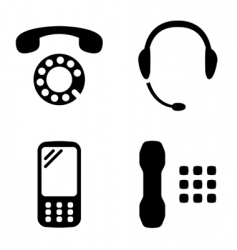 phone set vector image vector image