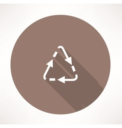 triangular cycle arrow icon vector image