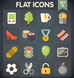 Universal Flat Icons for Applications Set 11 vector image vector image