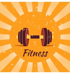 Vintage fitness poster background vector image