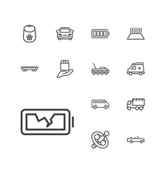 13 car icons vector