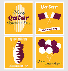 18 december qatar national day card vector